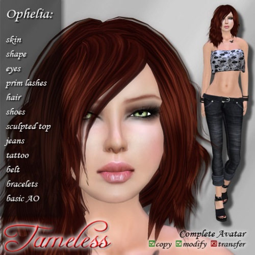 Tameless Complete Avatar Ophelia
